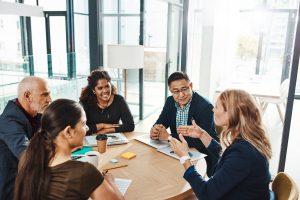Group of people in meeting room